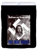 Deliver Us From Evil Duvet Cover