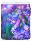Delphinium Abstract Duvet Cover