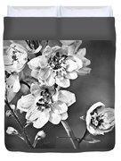Delphinium Black And White Duvet Cover
