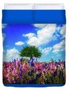 Delphinium Daydreams Duvet Cover
