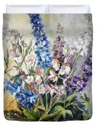 Delphiniums Duvet Cover