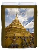 Demon Guards Grand Palace Bangkok Duvet Cover