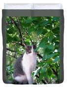 Demure Kitty Duvet Cover