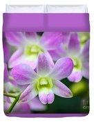 Dendrobium Orchids Duvet Cover