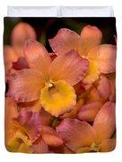 Dendrobium Oriental Smile Duvet Cover