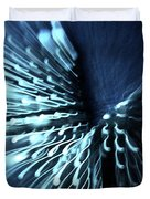 Denim And Light  Abstract 2 Duvet Cover