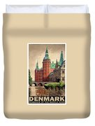 Denmark, Castle, Romance Of The Middle Ages Poster Duvet Cover