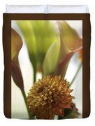 Denmark Close Up Brown Dahlia Duvet Cover