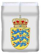 Denmark Coat Of Arms Duvet Cover