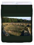 Denmark, Lindholm Hoeje Viking Burial Duvet Cover