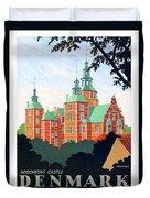 Denmark, Rosenborg Castle, Vintage Travel Poster Duvet Cover