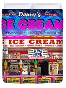 Dennys Ice Cream Shop Duvet Cover