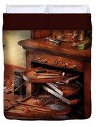 Dentist - Lab - Dental Laboratory  Duvet Cover by Mike Savad