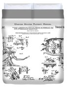 Dentists Chair Patent 1892 Duvet Cover