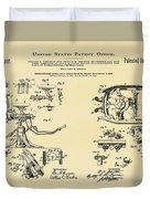 Dentists Chair Patent 1892 In Sepia Duvet Cover