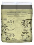 Dentists Chair Patent 1892 In Vintage  Duvet Cover