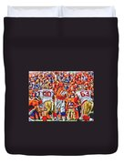 Denver Broncos Peyton Manning Oil Art Duvet Cover