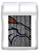 Denver Broncos Wood Fence Duvet Cover