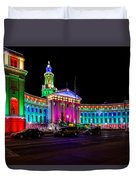 Denver City County Building Holiday Lighting. Duvet Cover