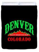 Denver Colorado Rocky Mountain Design Duvet Cover
