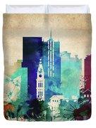 Denver Colorado Vintage Skyline Duvet Cover