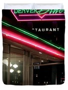 Denver Diner Duvet Cover