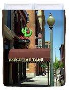 Denver Downtown Storefront Duvet Cover