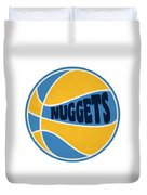Denver Nuggets Retro Shirt Duvet Cover