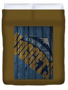 Denver Nuggets Wood Fence Duvet Cover