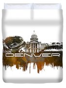Denver Skyline City Brown Duvet Cover