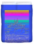 Departing Ferry Duvet Cover