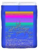 Departing Ferry Duvet Cover by Tim Allen