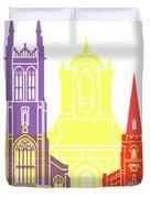 Derby Skyline Pop Duvet Cover