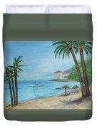 Descanso Beach, Catalina Duvet Cover