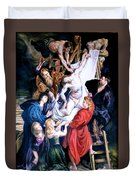 Descent From The Cross After Peter Paul Rubens Duvet Cover