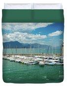 Desenzano Del Garda Lighthouse Italy Duvet Cover