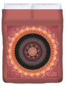 Desert Bloom Mandala Duvet Cover