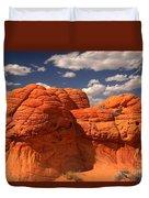 Desert Brain Rocks Duvet Cover