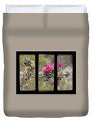 Desert Cactus Triptych Duvet Cover