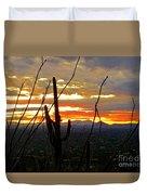 Desert City Sunset Duvet Cover