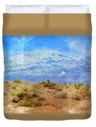 Desert Contrasts Duvet Cover by Michelle Dallocchio