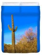 Desert Duo In Bloom Duvet Cover