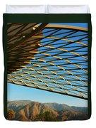 Desert Grid Duvet Cover