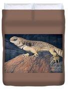 Desert Iguana Mural Duvet Cover