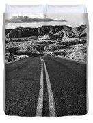 Desert Journey B/w Duvet Cover