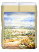 Desert Landscape Watercolor Duvet Cover