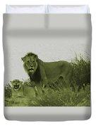 Desert Lions Duvet Cover
