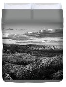 Desert Overlook #2 Bw Duvet Cover