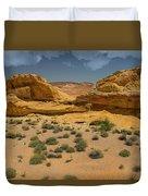 Desert Sandstone Cliffs Valley Of Fire Duvet Cover