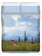 Desert Snow Duvet Cover